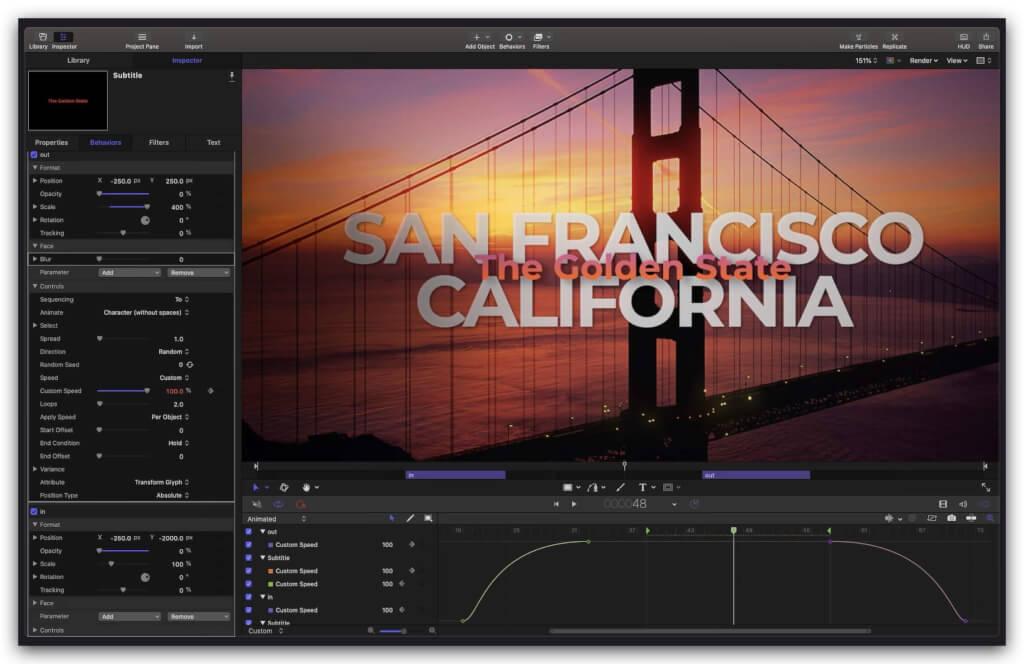 Apple Motion 5.5.1 免费下载 中英文版 苹果视频剪辑软件插图2
