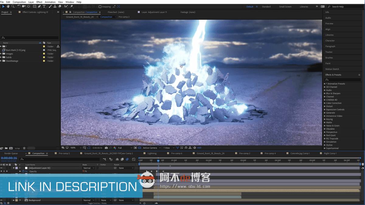 视频素材-20个爆炸混凝土碎屑飞溅特效合成素材 EXPLODING DEBRIS VOL. 2插图1