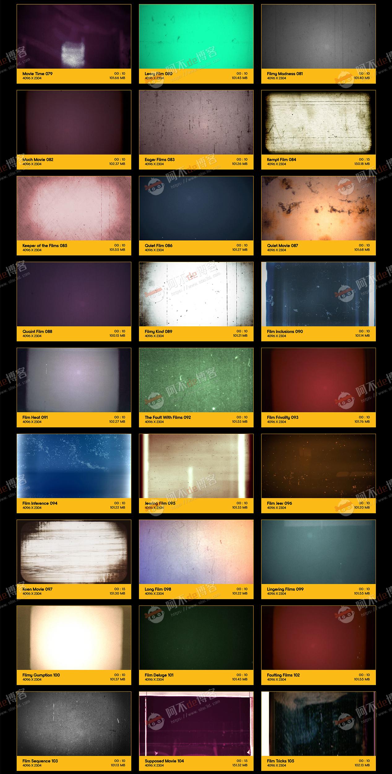 视频素材 BusyBoxx V10 Film Clutter 209组复古怀旧老电影胶片灼烧刮痕污渍噪波动画 特效合成素材插图3