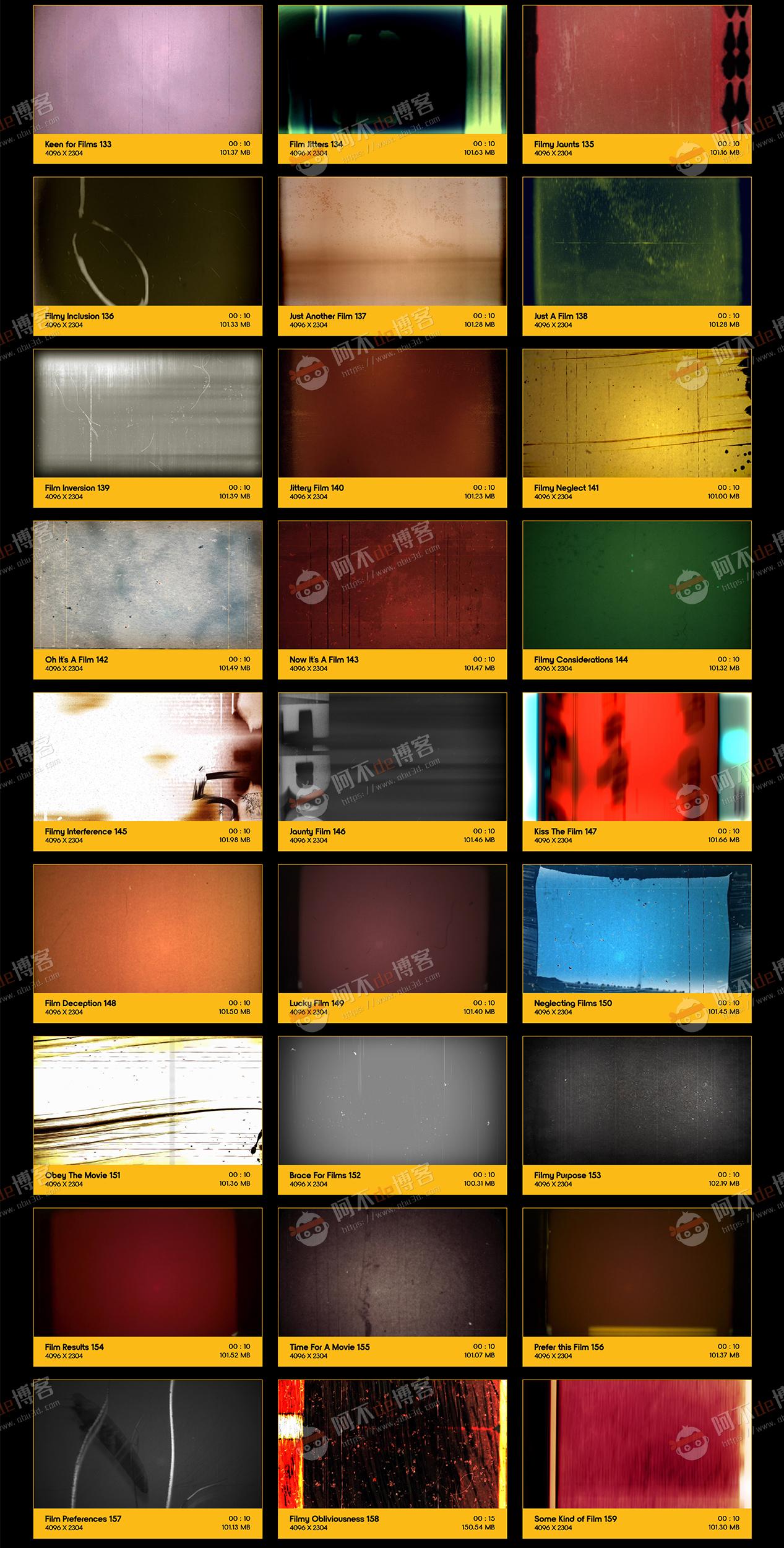 视频素材 BusyBoxx V10 Film Clutter 209组复古怀旧老电影胶片灼烧刮痕污渍噪波动画 特效合成素材插图5