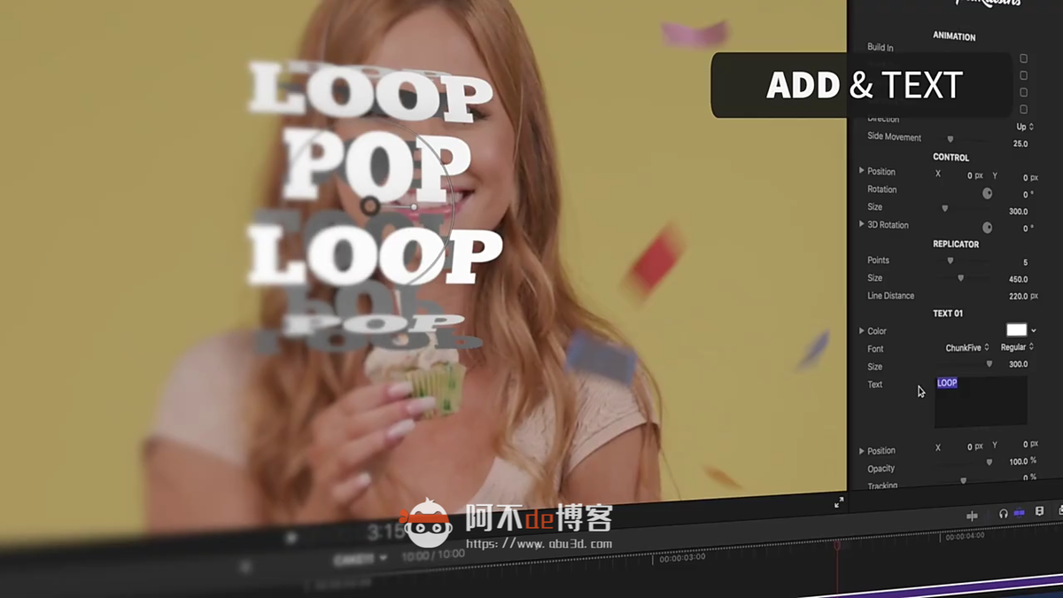 FCPX插件-标题动态循环文字36种现代动态循环动画预设Loop Pop插图
