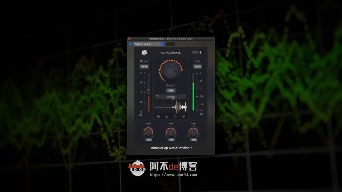中文汉化插件 自动音频降噪消除背景噪音插件 AudioDenoise 2插图1