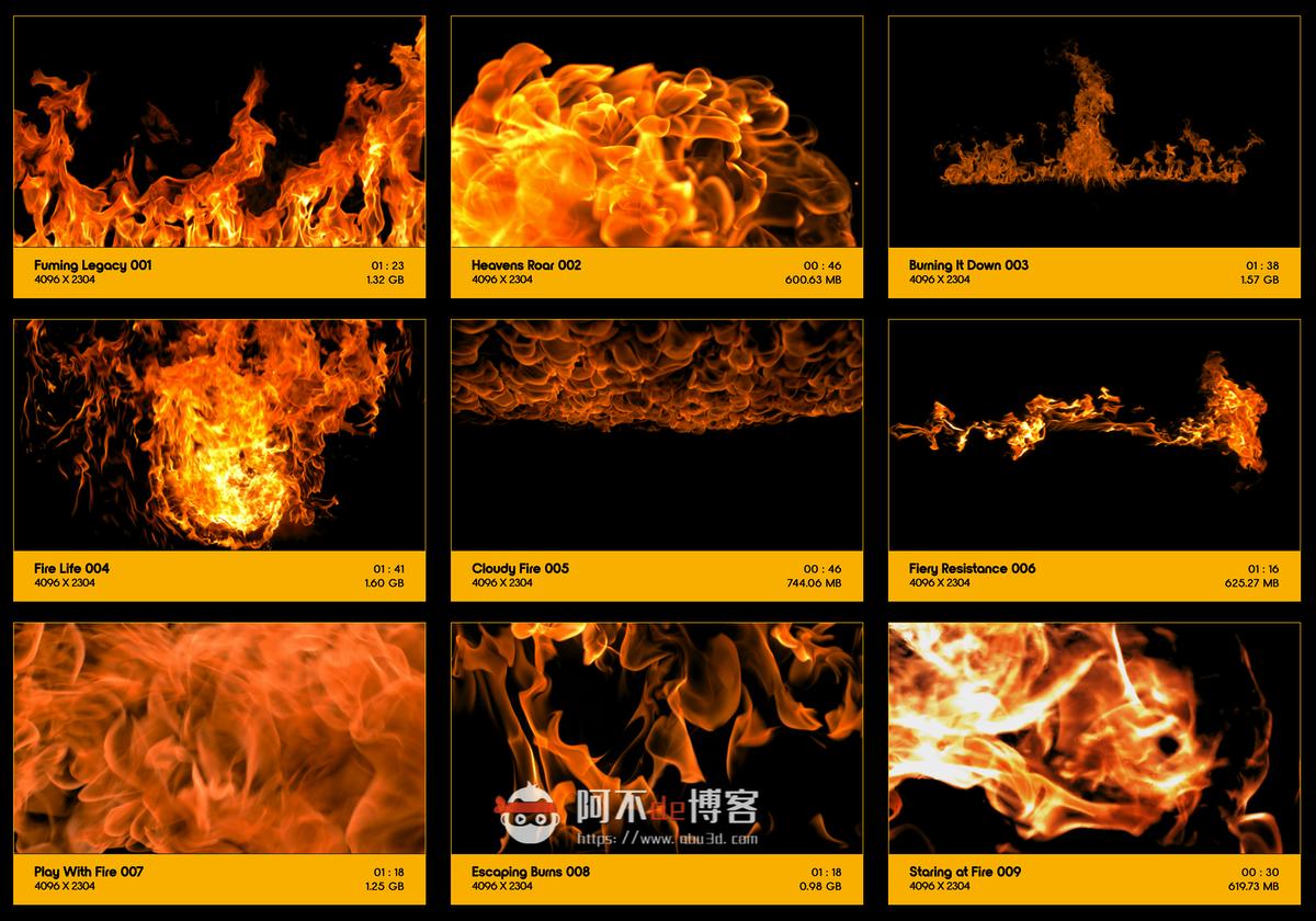 视频素材 BusyBoxx V01 Fire Power 102组真实火焰燃烧特效合成动画特效合成素材插图