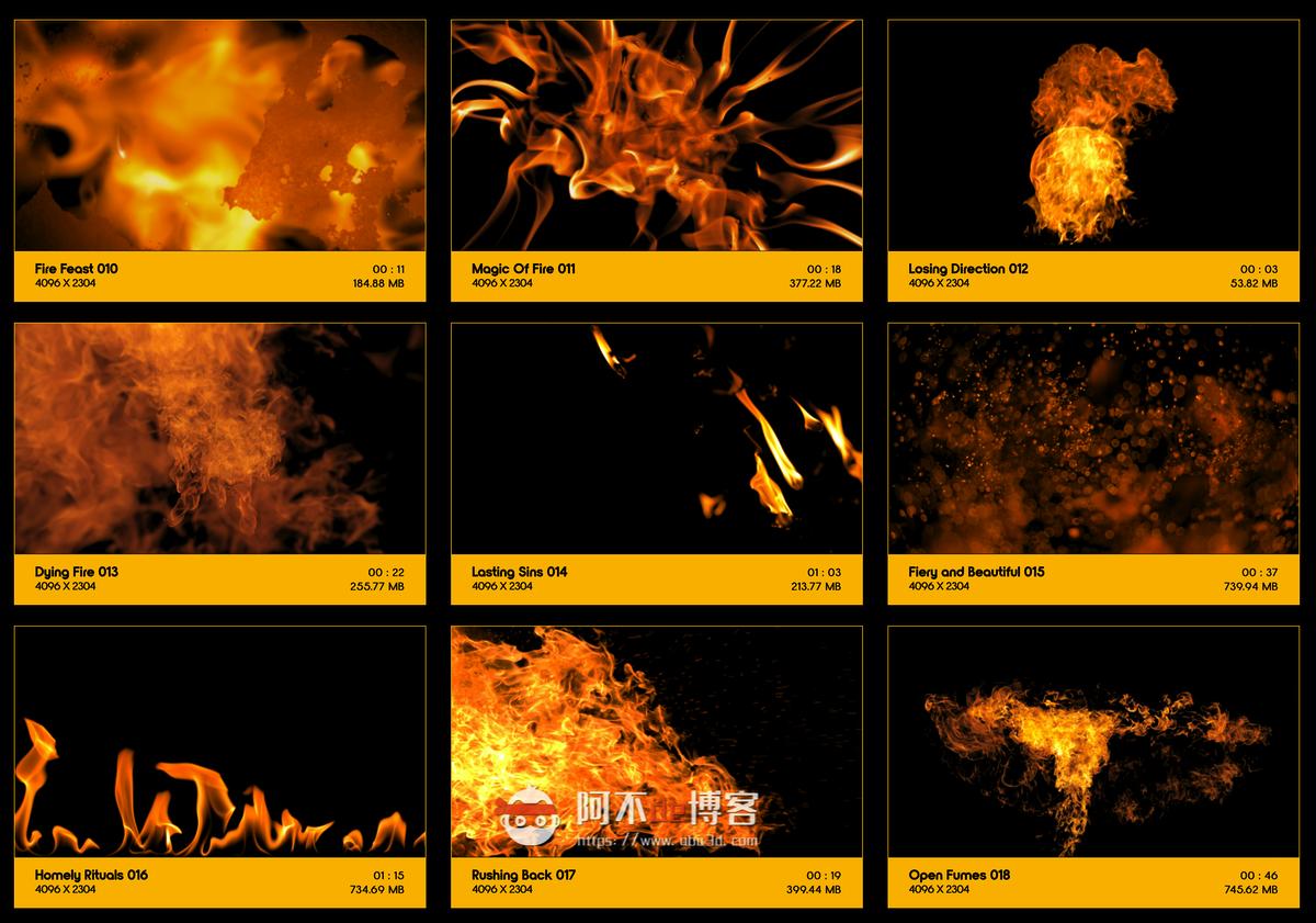 视频素材 BusyBoxx V01 Fire Power 102组真实火焰燃烧特效合成动画特效合成素材插图1