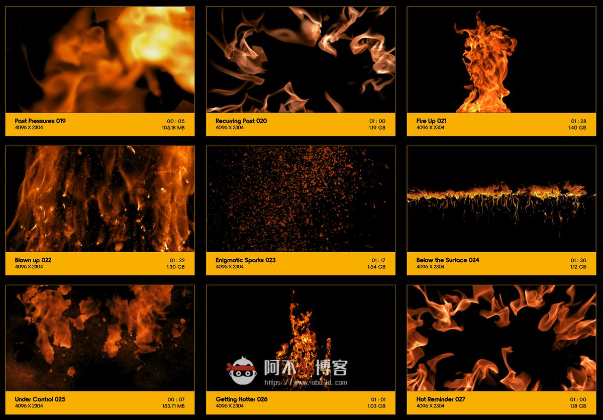 视频素材 BusyBoxx V01 Fire Power 102组真实火焰燃烧特效合成动画特效合成素材插图2