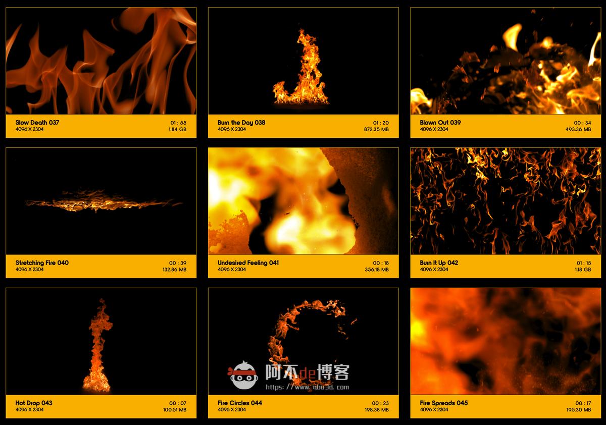 视频素材 BusyBoxx V01 Fire Power 102组真实火焰燃烧特效合成动画特效合成素材插图4