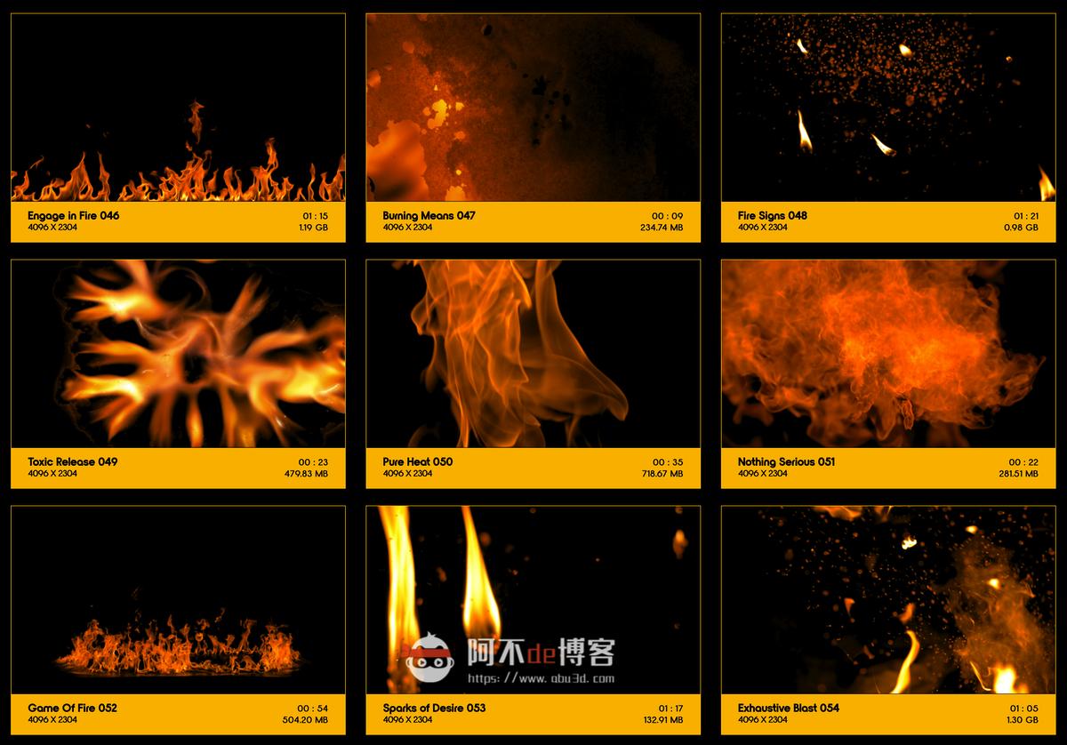视频素材 BusyBoxx V01 Fire Power 102组真实火焰燃烧特效合成动画特效合成素材插图5