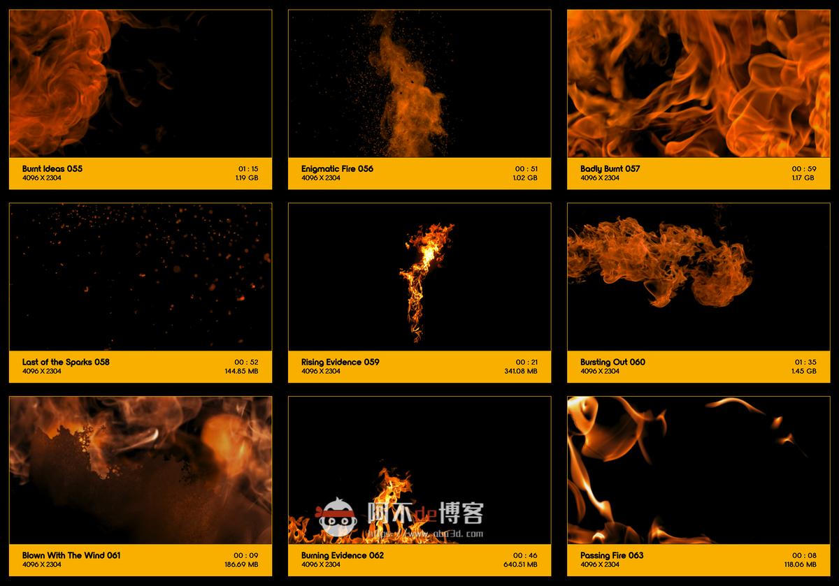 视频素材 BusyBoxx V01 Fire Power 102组真实火焰燃烧特效合成动画特效合成素材插图6