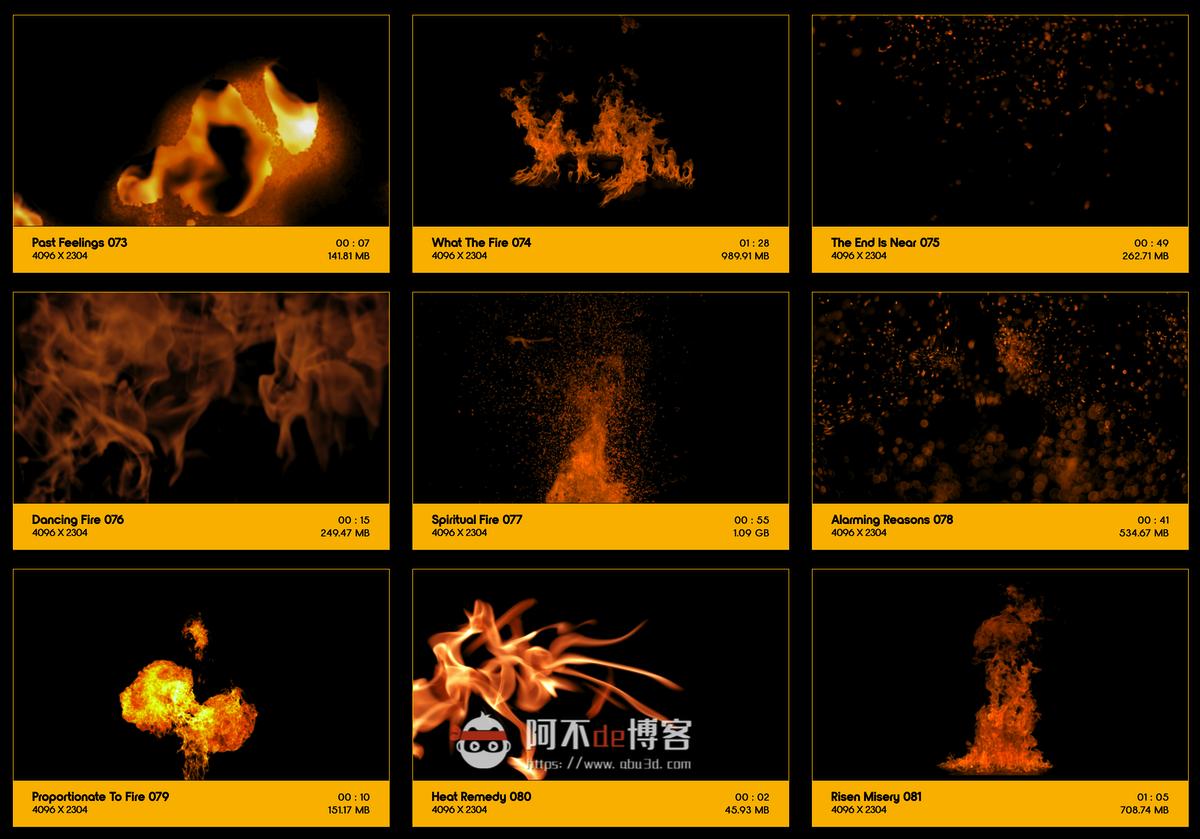 视频素材 BusyBoxx V01 Fire Power 102组真实火焰燃烧特效合成动画特效合成素材插图8