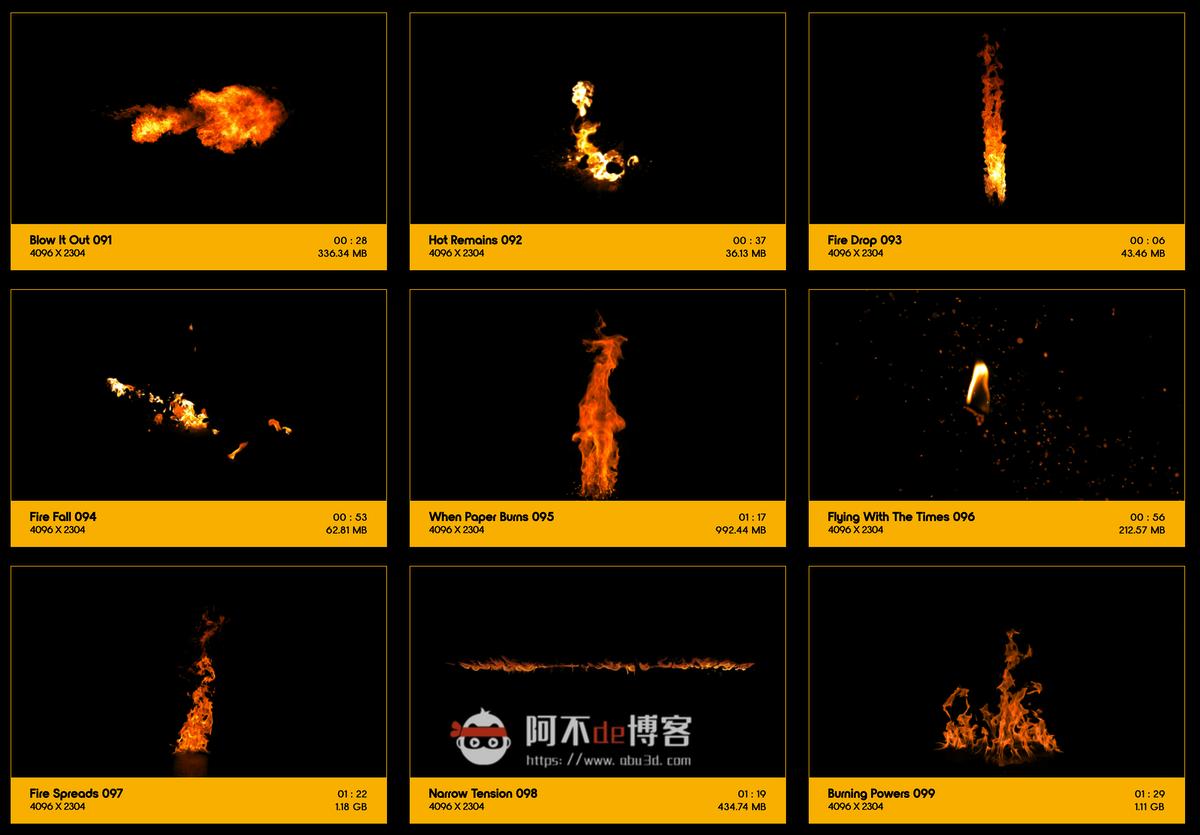 视频素材 BusyBoxx V01 Fire Power 102组真实火焰燃烧特效合成动画特效合成素材插图10