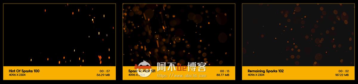 视频素材 BusyBoxx V04 Sizzling Sparks 102组火星飞溅发光火花粒子动画特效合成素材插图11