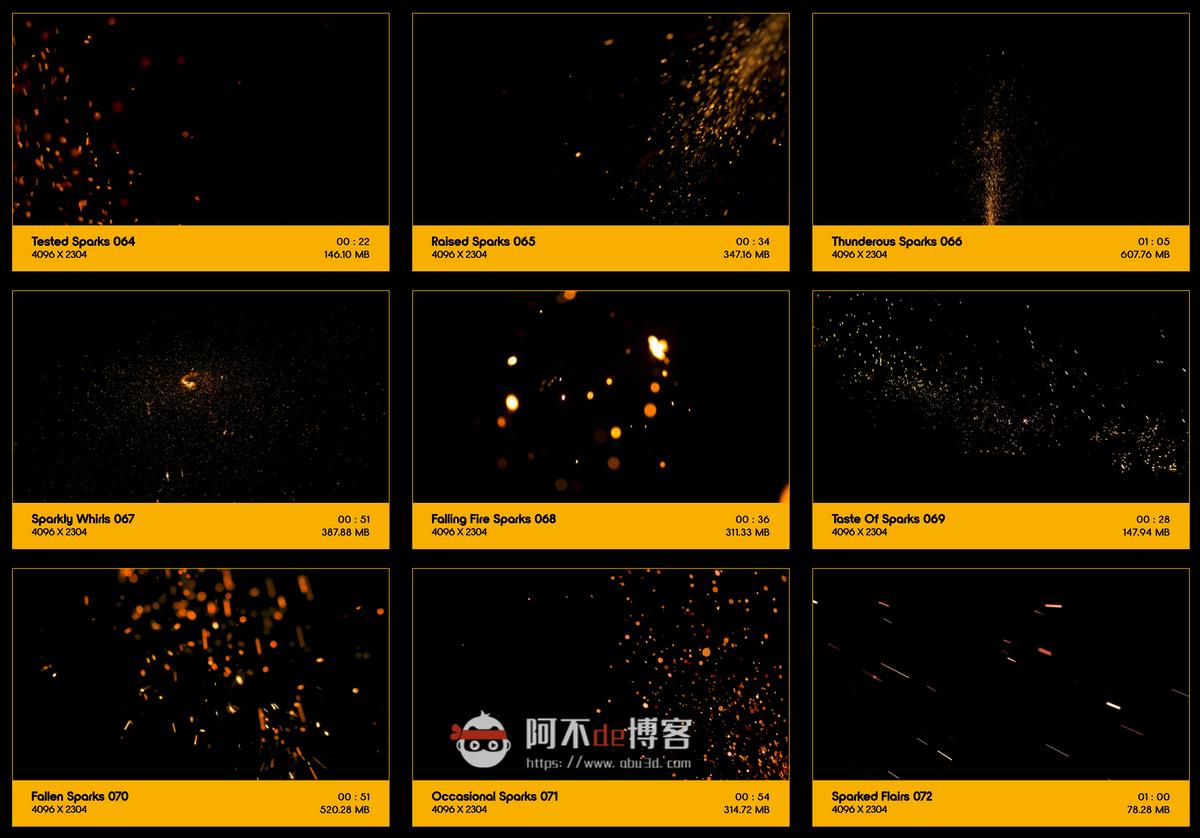 视频素材 BusyBoxx V04 Sizzling Sparks 102组火星飞溅发光火花粒子动画特效合成素材插图7