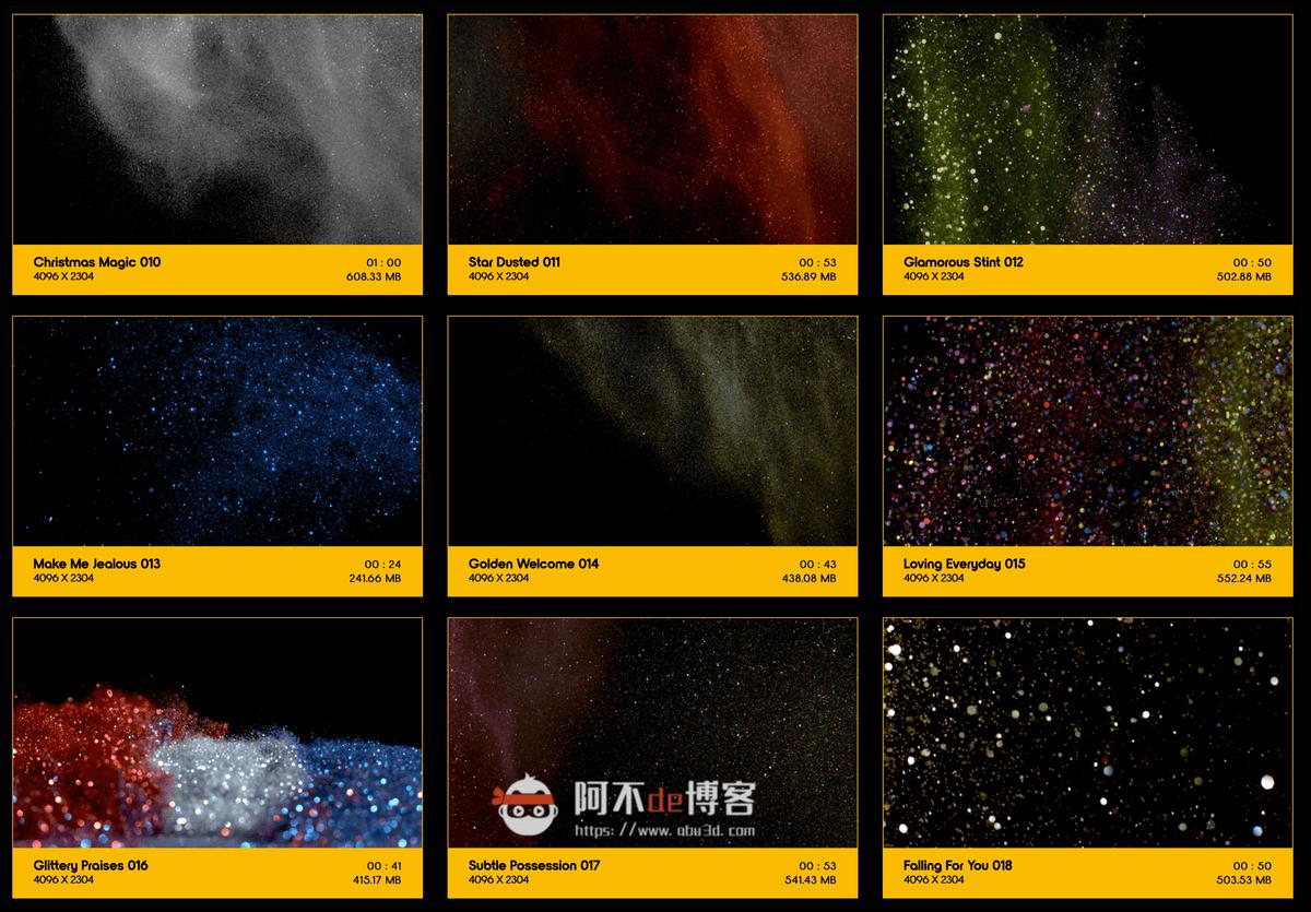 视频素材 BusyBoxx V09 Glitter Glitz 104组华丽闪耀发光金粉粒子动画 特效合成素材插图1