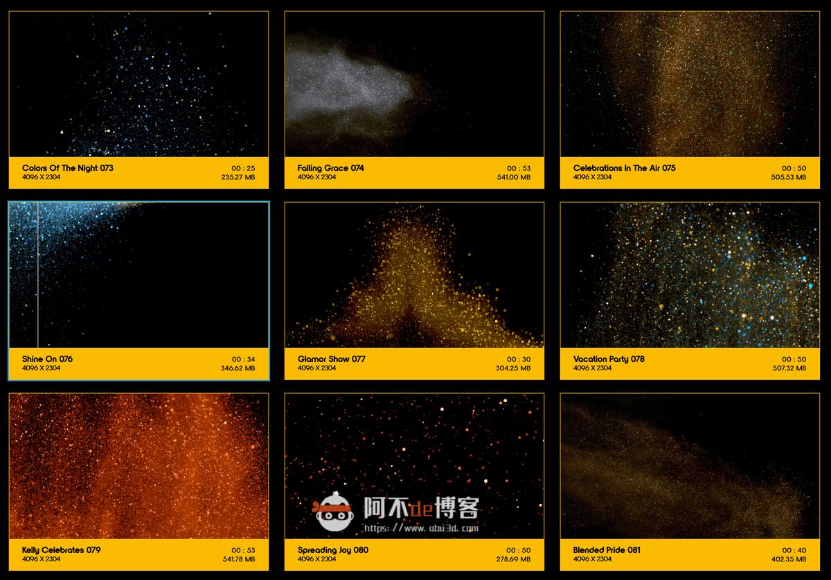 视频素材 BusyBoxx V09 Glitter Glitz 104组华丽闪耀发光金粉粒子动画 特效合成素材插图8
