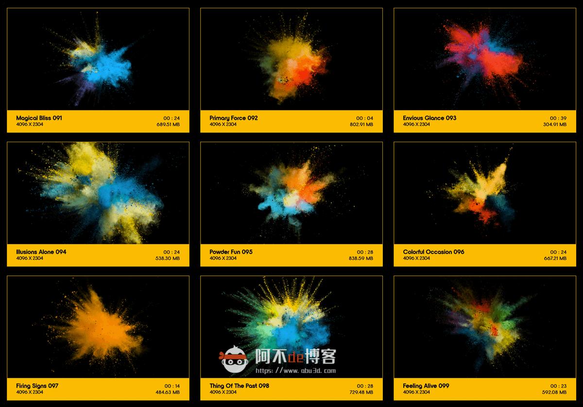 视频素材 BusyBoxx V08 Powder Explosions 108组彩色粉末慢动作爆炸飞散动画 特效合成素材插图10