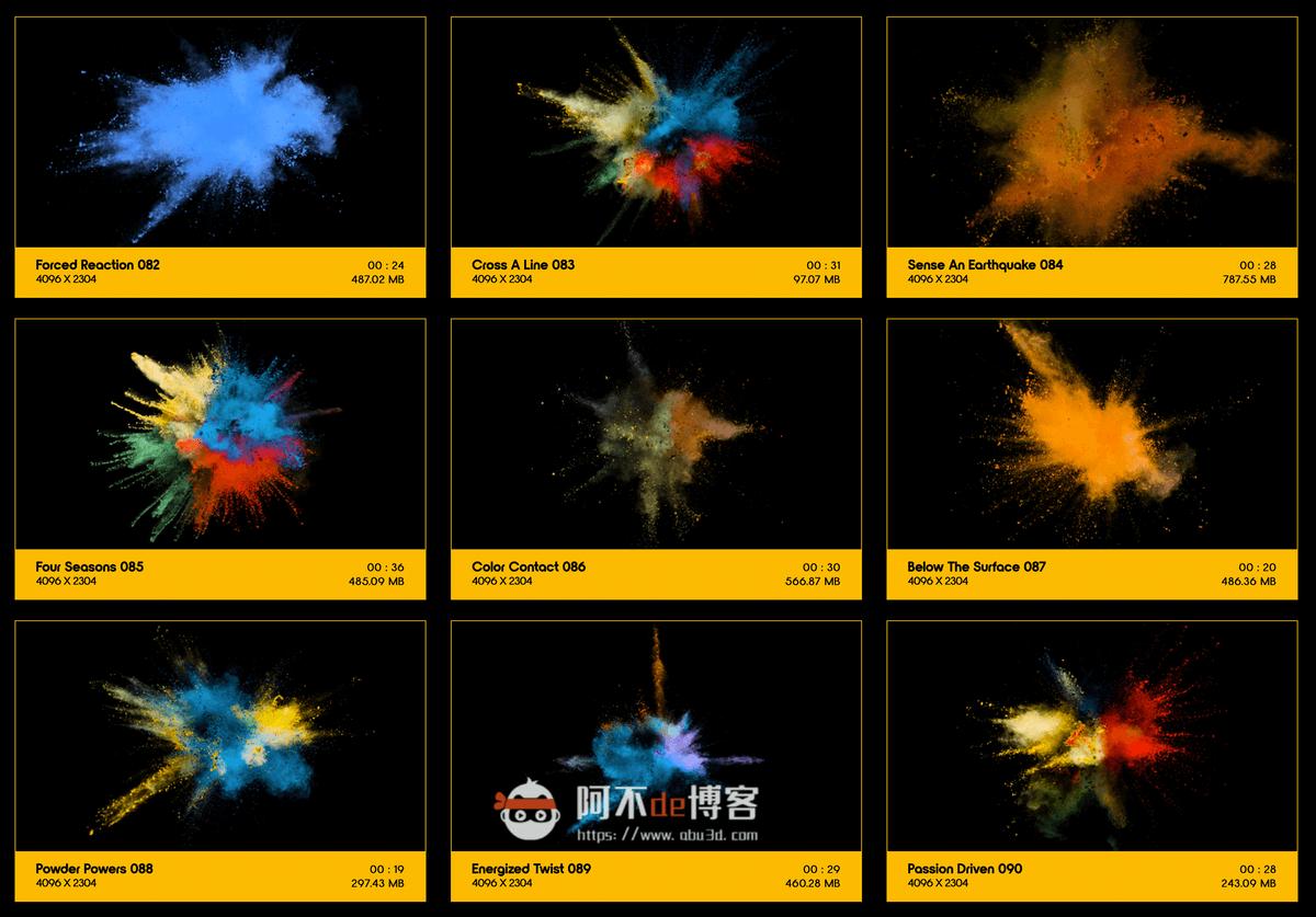 视频素材 BusyBoxx V08 Powder Explosions 108组彩色粉末慢动作爆炸飞散动画 特效合成素材插图11