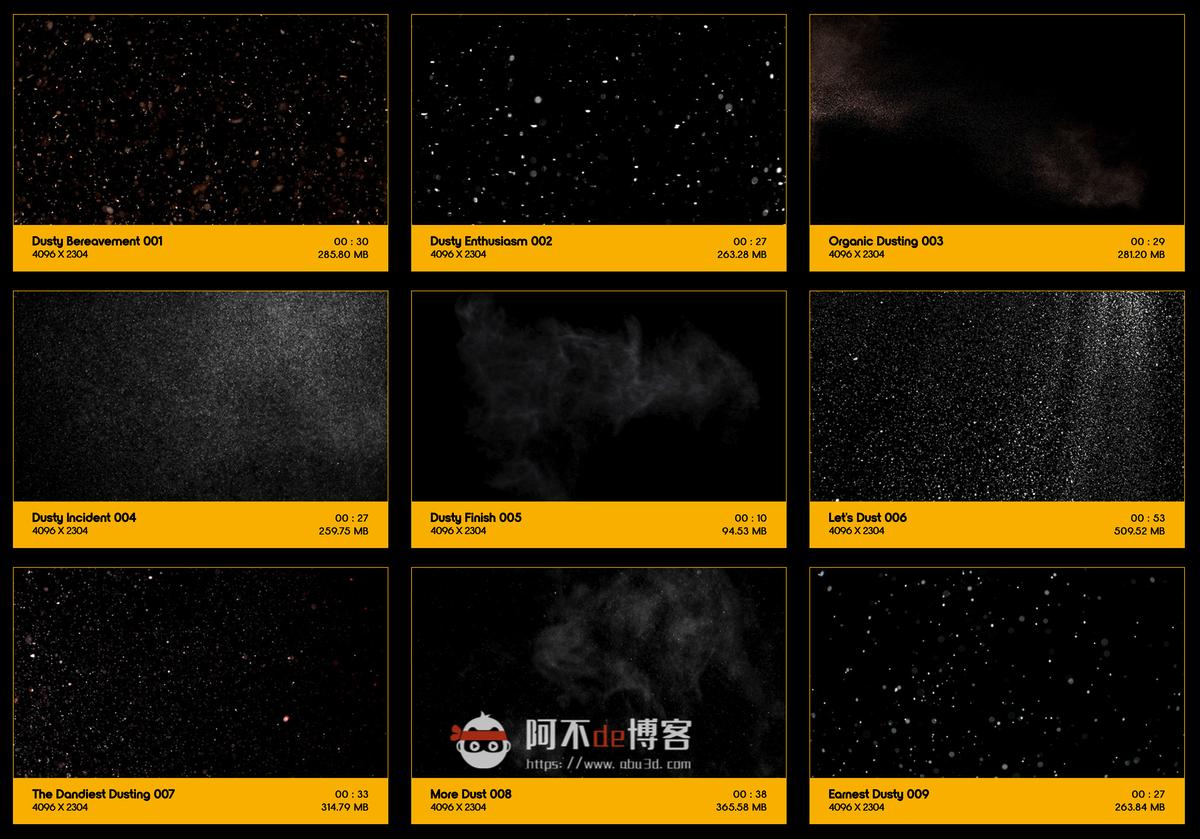 视频素材 BusyBoxx V14  Light Dusting 121组悬浮粉尘粒颗灰尘粒子动画 特效合成素材插图