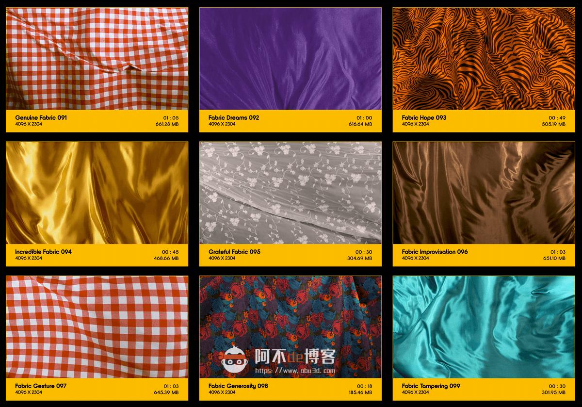 视频素材 BusyBoxx V19 Flowing Fabric 128组丝绸织物漂浮流动动画 特效合成素材插图10