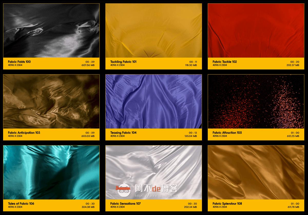 视频素材 BusyBoxx V19 Flowing Fabric 128组丝绸织物漂浮流动动画 特效合成素材插图11
