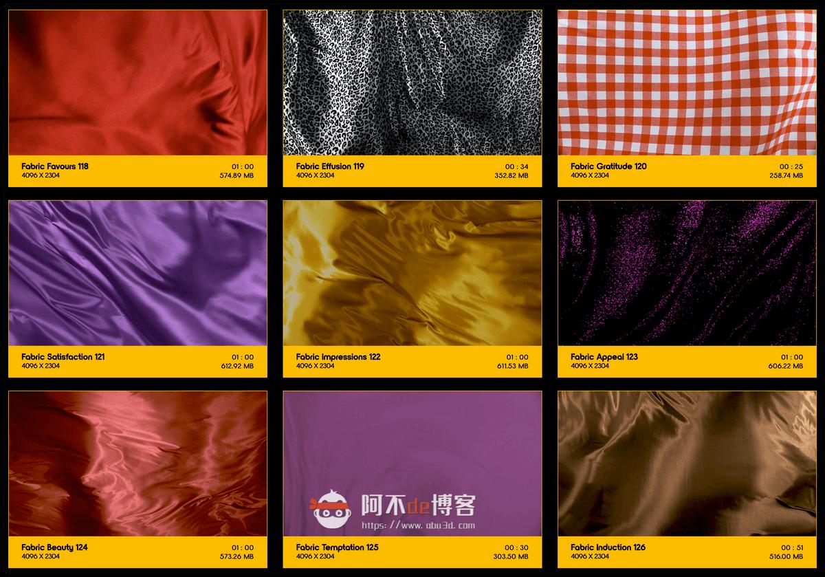 视频素材 BusyBoxx V19 Flowing Fabric 128组丝绸织物漂浮流动动画 特效合成素材插图12