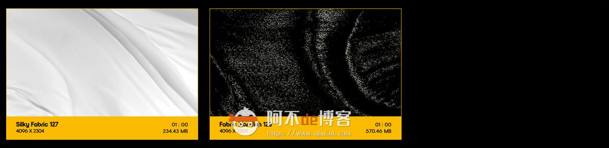 视频素材 BusyBoxx V19 Flowing Fabric 128组丝绸织物漂浮流动动画 特效合成素材插图14