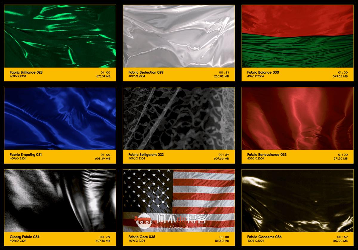 视频素材 BusyBoxx V19 Flowing Fabric 128组丝绸织物漂浮流动动画 特效合成素材插图3