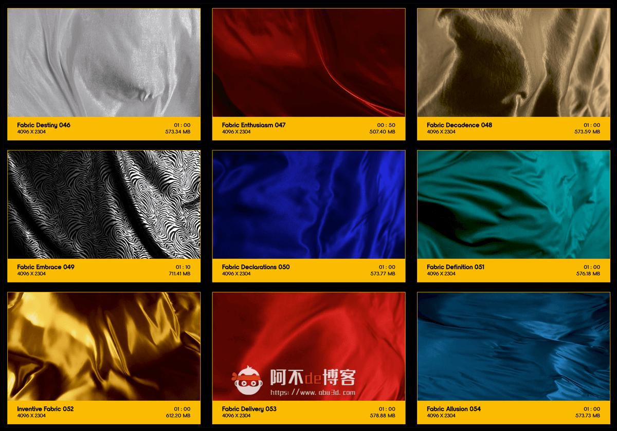 视频素材 BusyBoxx V19 Flowing Fabric 128组丝绸织物漂浮流动动画 特效合成素材插图5