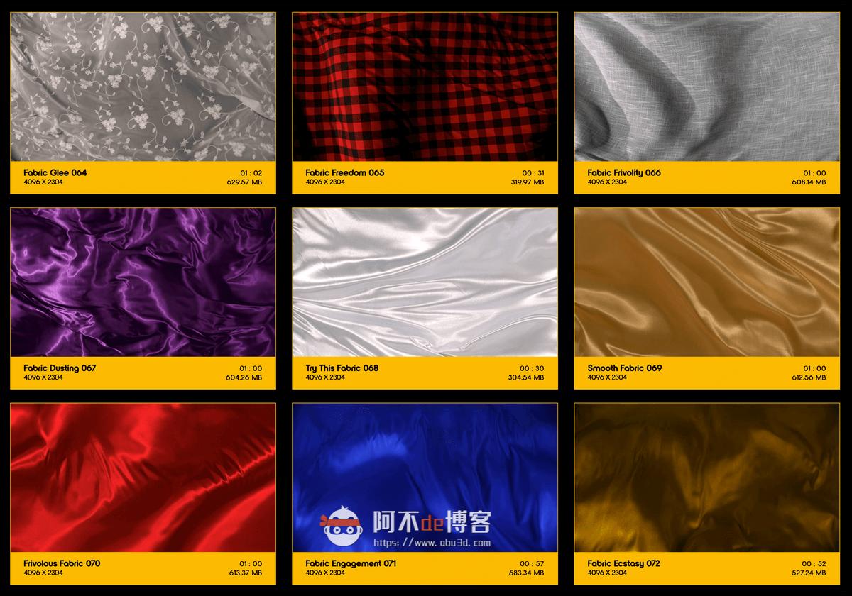 视频素材 BusyBoxx V19 Flowing Fabric 128组丝绸织物漂浮流动动画 特效合成素材插图7