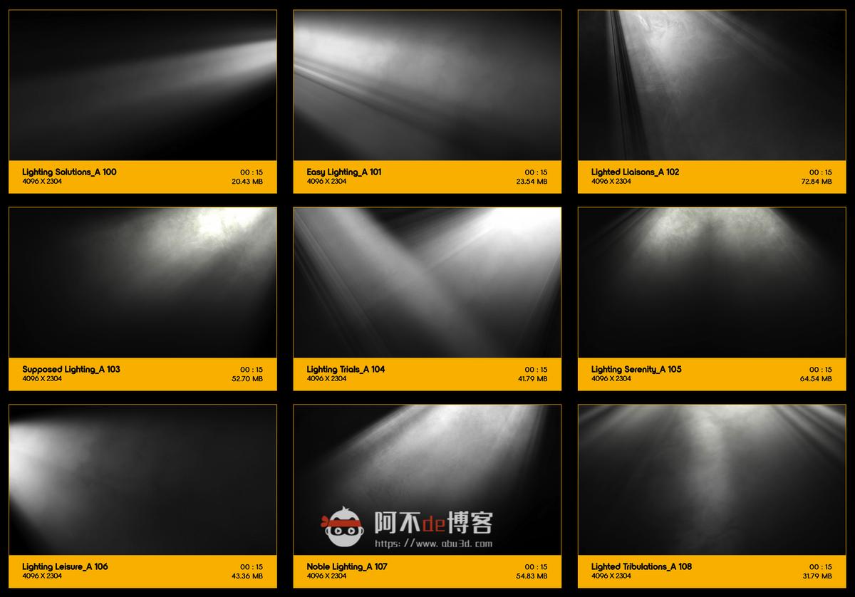 视频素材 BusyBoxx V18 Rays Of Light 176组体积光聚光灯光线照射动画 特效合成素材插图11