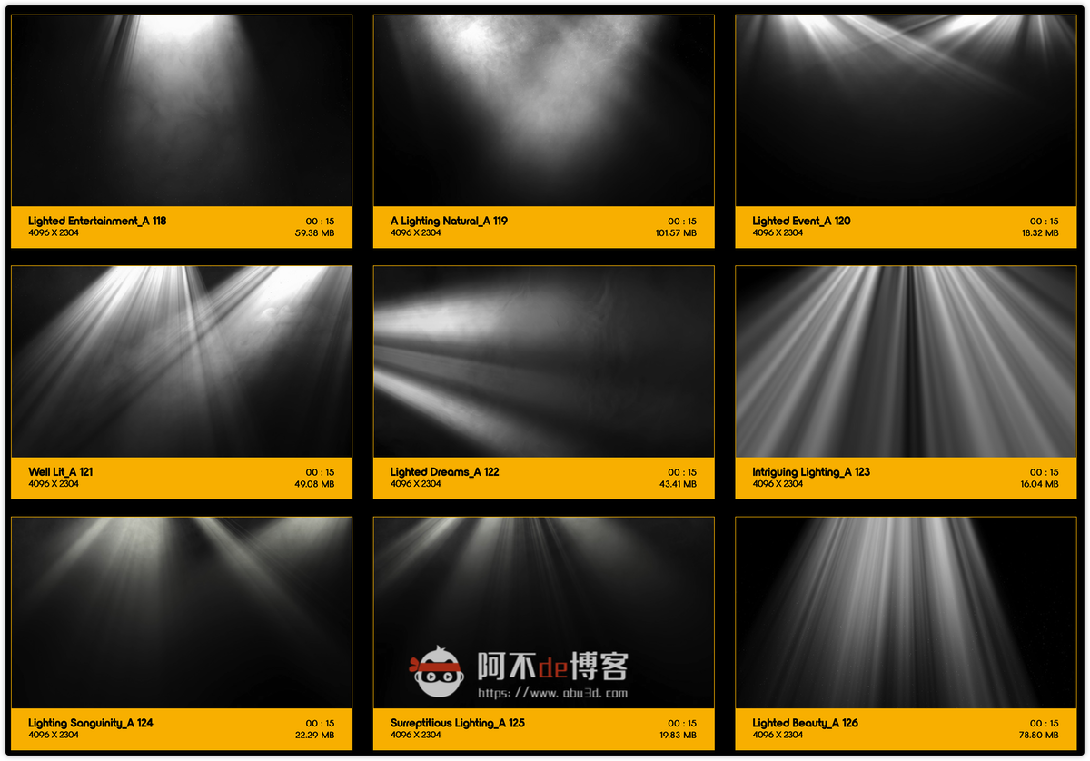 视频素材 BusyBoxx V18 Rays Of Light 176组体积光聚光灯光线照射动画 特效合成素材插图13