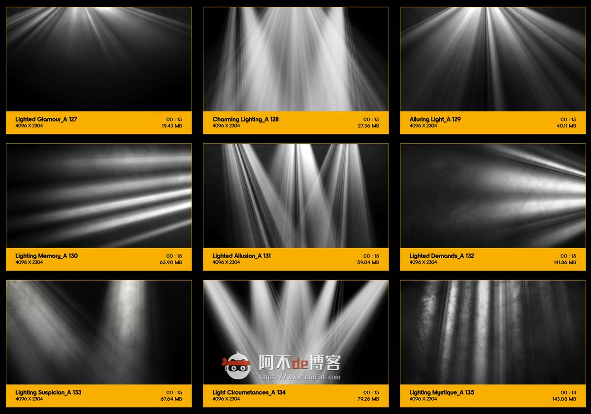 视频素材 BusyBoxx V18 Rays Of Light 176组体积光聚光灯光线照射动画 特效合成素材插图14