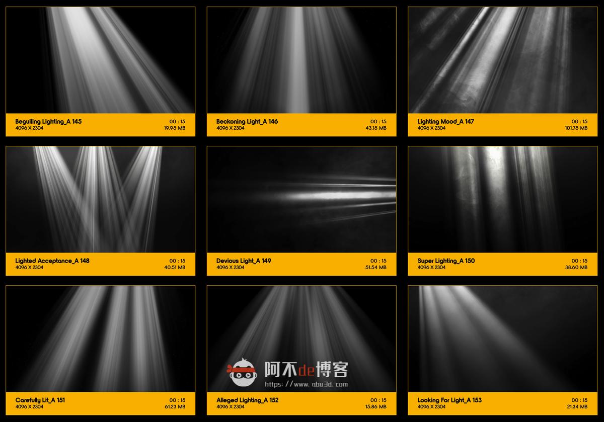 视频素材 BusyBoxx V18 Rays Of Light 176组体积光聚光灯光线照射动画 特效合成素材插图16