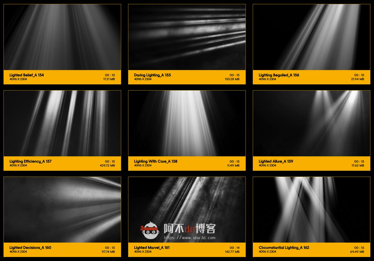 视频素材 BusyBoxx V18 Rays Of Light 176组体积光聚光灯光线照射动画 特效合成素材插图17