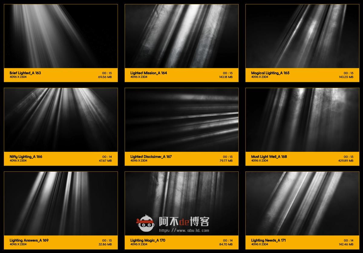 视频素材 BusyBoxx V18 Rays Of Light 176组体积光聚光灯光线照射动画 特效合成素材插图18