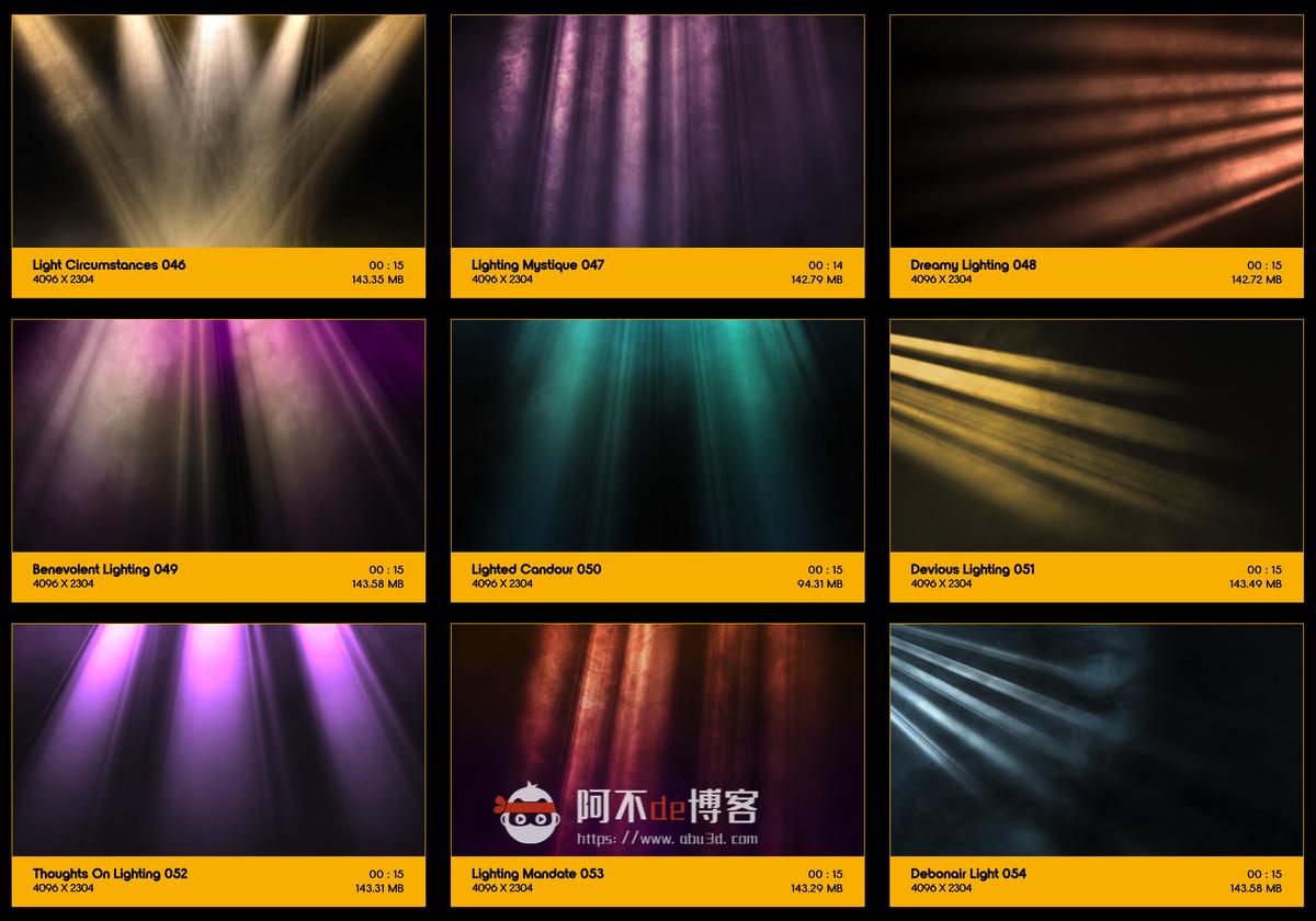视频素材 BusyBoxx V18 Rays Of Light 176组体积光聚光灯光线照射动画 特效合成素材插图5