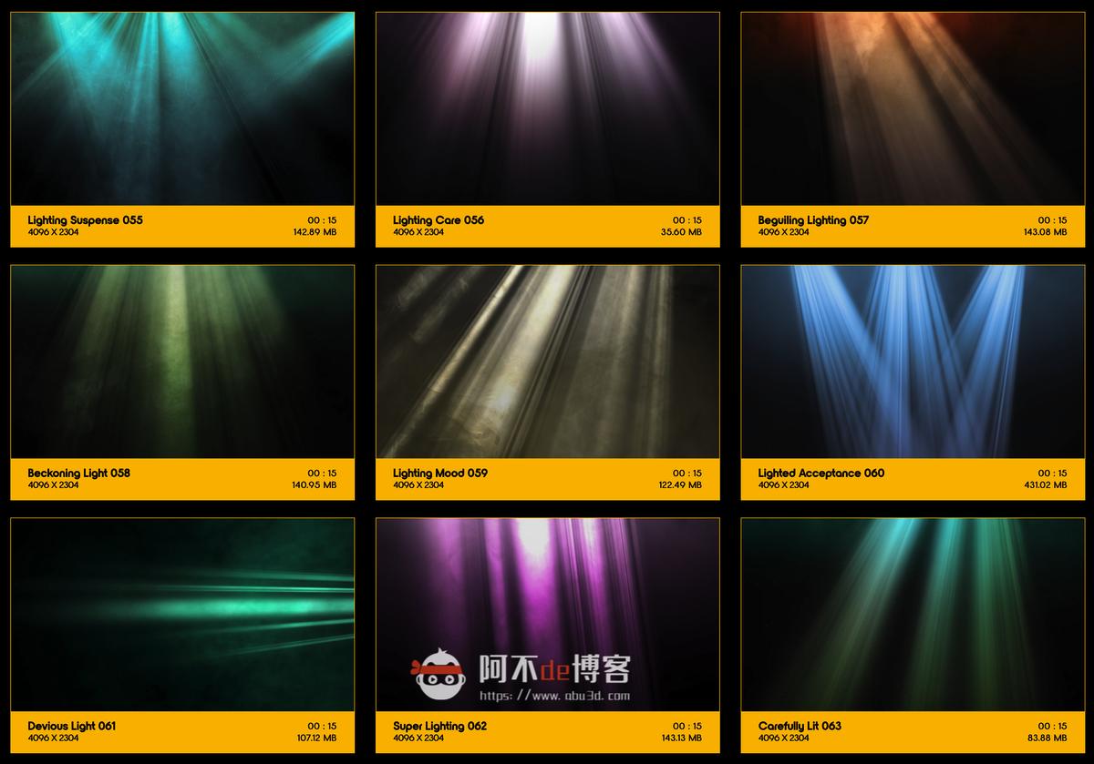 视频素材 BusyBoxx V18 Rays Of Light 176组体积光聚光灯光线照射动画 特效合成素材插图6