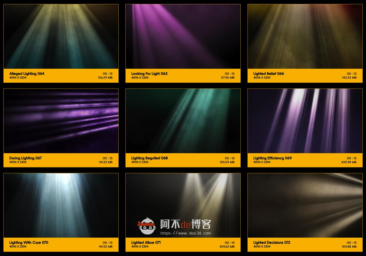 视频素材 BusyBoxx V18 Rays Of Light 176组体积光聚光灯光线照射动画 特效合成素材插图7