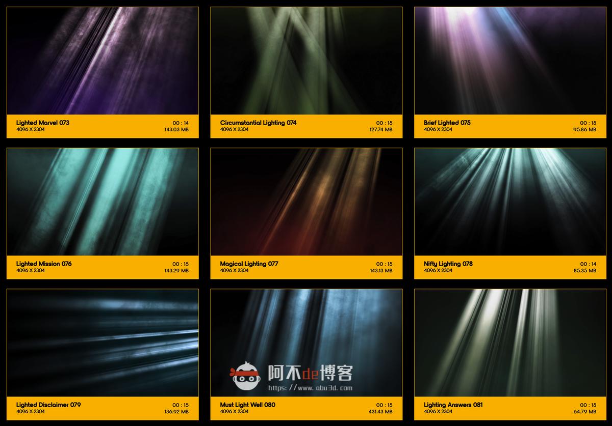 视频素材 BusyBoxx V18 Rays Of Light 176组体积光聚光灯光线照射动画 特效合成素材插图8