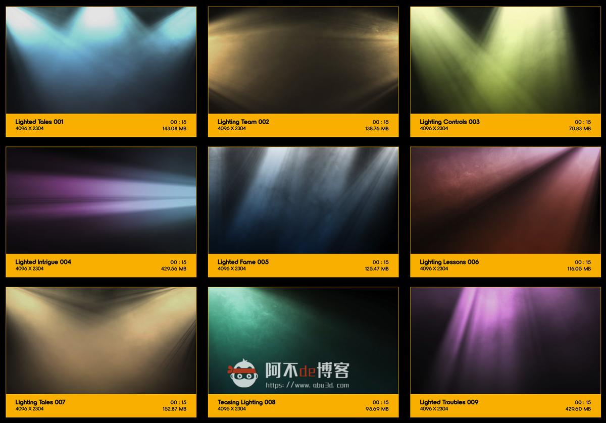 视频素材 BusyBoxx V18 Rays Of Light 176组体积光聚光灯光线照射动画 特效合成素材插图